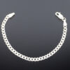 Baby bracelet for baby kids model SYC 2BTM11.925 Sterling silver is used. This silver chain is skin friendly and flexible in nature. It is daily usable product.It is an article of jewellery that is worn around the wrist.Specially designed to attract the baby kids.This silver chain is free from micro worms.So it is very safe for kids from causing skin problems. .It be used as a gift product like birthday gift,naming ceremony or a surprise gift for kids.To increase the life of this product after use keep the product in a box or soft cloth pouch.This is of Ganguly model bracelet with small rings are connecting each other.It is safe to use product without making hurts.