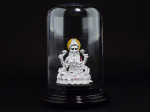 Fortune Goddess Mahalakshmi Silver Idol 999 Pure Silver using Electroforming Technique is a Perfect artifact Collection used for Gift Purpose or Spiritual purpose, Show Piece , Home Decorative or