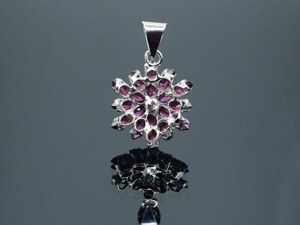 925 Sterling Silver Locket Semi Precious Magenta Stone Pendant Model SYC 2L63. This is ideal for womens and girls. Unique piece comes on contemporary style perfect for all outfits. Suitable for birthday functions, wedding ceremony, valentine gifts,engagements and perfect gift for our loved ones. Importance of 925 Sterling Silver : We are aware of the trending style and beauty of Sterling silver but the Most Important Part of Sterling Silver 925 is the health benefits. Silver ions in Silver material has a proven record of antibiotic nature. The excellent way to obtain health improvement from 925 Sterling silver is whenit get in touch with the skin. Silver is antibacterial too and helps to improve blood circulation and help remove toxins present in the human body. Some studies even mention about the defensivepower of Silver JewelryagainstHazardous electromagnetic radiations emittingfrom Mobile phones or Laptops. Electrical and Thermal conductivity of Sterling silver 925 is the highlighted quality which indicate the capacity of Sterling silver to distribute electrical power as well as heat across the body.This is why Sterling silver boost the blood circulation, typical healing property and maintain the heat balance. If illnesses arrives , temperature level increases or hormonal change occurs Sterling silver wearing get appear more darker in color. Original 925 Sterling silver are more than 99% non allergic and skin friendly in nature. But Cheap Silver Plated Jewelryavailable in popular online sites ( in some websites they even wrongly mentioned it as sterling silver ) are dangerous for Skin especially those who have sensitive skin. We recommendto use Genuine quality Sterling Silver to avail health benefits and to avoid cheap fancy Silver Products. Pure Silver and 92.5 Sterling Silver : 100% Pure Silver also known as Fine Silver is heavily soft in nature , very malleable and most likely it will get damaged within a short time. It's not Practically Possible to make Jewel