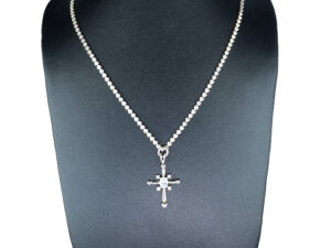 925 Sterling Silver Chain With Holy Cross White Stone Pendant Model SYC 2N54. This is ideal for both males and females. Unique piece comes on contemporay style perfect for all outfits. Suitable for daily use,office use and perfect gift for our loved ones. Importance of 925 Sterling Silver : We are aware of the trending style and beauty of Sterling silver but the Most Important Part of Sterling Silver 925 is the health benefits. Silver ions in Silver material has a proven record of antibiotic nature. The excellent way to obtain health improvement from 925 Sterling silver is whenit get in touch with the skin. Silver is antibacterial too and helps to improve blood circulation and help remove toxins present in the human body. Some studies even mention about the defensivepower of Silver JewelryagainstHazardous electromagnetic radiations emittingfrom Mobile phones or Laptops. Electrical and Thermal conductivity of Sterling silver 925 is the highlighted quality which indicate the capacity of Sterling silver to distribute electrical power as well as heat across the body.This is why Sterling silver boost the blood circulation, typical healing property and maintain the heat balance. If illnesses arrives , temperature level increases or hormonal change occurs Sterling silver wearing get appear more darker in color. Original 925 Sterling silver are more than 99% non allergic and skin friendly in nature. But Cheap Silver Plated Jewelryavailable in popular online sites ( in some websites they even wrongly mentioned it as sterling silver ) are dangerous for Skin especially those who have sensitive skin. We recommendto use Genuine quality Sterling Silver to avail health benefits and to avoid cheap fancy Silver Products. Pure Silver and 92.5 Sterling Silver : 100% Pure Silver also known as Fine Silver is heavily soft in nature , very malleable and most likely it will get damaged within a short time. It's not Practically Possible to make JewelryProducts in 100 Percentage Pure silver 