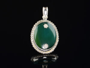 925 Sterling Silver Locket Semi Precious Oval Green Agate Stone Pendant Model SYC 1LS078. This is ideal for womens and girls. Unique piece comes on contemporary style perfect for all outfits. Suitable for birthday functions, wedding ceremony, valentine gifts,engagements and perfect gift for our loved ones. Importance of 925 Sterling Silver : We are aware of the trending style and beauty of Sterling silver but the Most Important Part of Sterling Silver 925 is the health benefits. Silver ions in Silver material has a proven record of antibiotic nature. The excellent way to obtain health improvement from 925 Sterling silver is whenit get in touch with the skin. Silver is antibacterial too and helps to improve blood circulation and help remove toxins present in the human body. Some studies even mention about the defensivepower of Silver JewelryagainstHazardous electromagnetic radiations emittingfrom Mobile phones or Laptops. Electrical and Thermal conductivity of Sterling silver 925 is the highlighted quality which indicate the capacity of Sterling silver to distribute electrical power as well as heat across the body.This is why Sterling silver boost the blood circulation, typical healing property and maintain the heat balance. If illnesses arrives , temperature level increases or hormonal change occurs Sterling silver wearing get appear more darker in color. Original 925 Sterling silver are more than 99% non allergic and skin friendly in nature. But Cheap Silver Plated Jewelryavailable in popular online sites ( in some websites they even wrongly mentioned it as sterling silver ) are dangerous for Skin especially those who have sensitive skin. We recommendto use Genuine quality Sterling Silver to avail health benefits and to avoid cheap fancy Silver Products. Pure Silver and 92.5 Sterling Silver : 100% Pure Silver also known as Fine Silver is heavily soft in nature , very malleable and most likely it will get damaged within a short time. It's not Practically Possible to