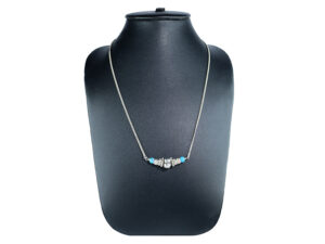 925 Sterling Silver Chain Necklace With Silver Design And Turquoise Stone Model SYC 1CHF059. This is ideal for womens and girls . Unique piece comes on contemporary style perfect for all outfits. Suitable for daily use,office use and perfect gift for our loved ones. Silver design beads makes more elegant and beautiful look. Importance of 925 Sterling Silver : We are aware of the trending style and beauty of Sterling silver but the Most Important Part of Sterling Silver 925 is the health benefits. Silver ions in Silver material has a proven record of antibiotic nature. The excellent way to obtain health improvement from 925 Sterling silver is whenit get in touch with the skin. Silver is antibacterial too and helps to improve blood circulation and help remove toxins present in the human body. Some studies even mention about the defensivepower of Silver JewelryagainstHazardous electromagnetic radiations emittingfrom Mobile phones or Laptops. Electrical and Thermal conductivity of Sterling silver 925 is the highlighted quality which indicate the capacity of Sterling silver to distribute electrical power as well as heat across the body.This is why Sterling silver boost the blood circulation, typical healing property and maintain the heat balance. If illnesses arrives , temperature level increases or hormonal change occurs Sterling silver wearing get appear more darker in color. Original 925 Sterling silver are more than 99% non allergic and skin friendly in nature. But Cheap Silver Plated Jewelryavailable in popular online sites ( in some websites they even wrongly mentioned it as sterling silver ) are dangerous for Skin especially those who have sensitive skin. We recommendto use Genuine quality Sterling Silver to avail health benefits and to avoid cheap fancy Silver Products. Pure Silver and 92.5 Sterling Silver : 100% Pure Silver also known as Fine Silver is heavily soft in nature , very malleable and most likely it will get damaged within a short time. It's not Pract