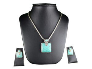 "925 Sterling Silver Chain Necklace With Turquoise Stone Pendant Model SYC 2N3. This is ideal for womens and girls . Unique piece comes on contemporary style perfect for all outfits. Suitable for , and perfect gift for our loved ones ,birthday functions, wedding ceremony, valentine gifts,engagements. Importance of 925 Sterling Silver : We are aware of the trending style and beauty of Sterling silver but the Most Important Part of Sterling Silver 925 is the health benefits. Silver ions in Silver material has a proven record of antibiotic nature. The excellent way to obtain health improvement from 925 Sterling silver is when it get in touch with the skin. Silver is antibacterial too and helps to improve blood circulation and help remove toxins present in the human body. Some studies even mention about the defensive power of Silver Jewelry against Hazardous electro magnetic radiations emitting from Mobile phones or Laptops. Electrical and Thermal conductivity of Sterling silver 925 is the highlighted quality which indicate the capacity of Sterling silver to distribute electrical power as well as heat across the body.This is why Sterling silver boost the blood circulation, typical healing property and maintain the heat balance. If illnesses arrives , temperature level increases or hormonal change occurs Sterling silver wearing get appear more darker in color. Original 925 Sterling silver are more than 99% non allergic and skin friendly in nature. But Cheap Silver Plated Jewelry available in popular online sites ( in some websites they even wrongly mentioned it as sterling silver ) are dangerous for Skin especially those who have sensitive skin. We recommend to use Genuine quality Sterling Silver to avail health benefits and to avoid cheap fancy Silver Products. Pure Silver and 92.5 Sterling Silver : 100% Pure Silver also known as Fine Silver is heavily soft in nature , very malleable and most likely it will get damaged within a short time. It's not Practically Possible to make Jewelry Products in 100 Percentage Pure silver due because Jewels will bend and have to be straightened. To tackle this and same time to remain the highest Silver Material Quality, 925 Sterling Silver is introduced. Sterling Silver contains 92.5 % Pure silver and alloys on other 7.5 % usually Copper. This helps sterling silver to increase hardness, durability, strength and reduce tarnishing. Silver designers can made Outstanding Trending Silverware collection with sterling silver 925 due to the mentioned properties. 925 Sterling silver Jewellery gives more beauty and elegant look. Sterling silver even suits for black skin tones. Sterling silver enhances beauty and give a pretty modern look. ""Sterling silver 925"" word is associated with superior quality since ancient times. Silverycraft Luxury Sterling silver Jewel's are affordable too. Caring the Valuable Silver Jewels : Silverycraft Products especially Sterling Silver 925 need less care compared to other brands. Still it's important to do proper care mainly Keep your precious Silver away from high humidity, Chemicals, Oils, Perfumes, Hair products, water containing Chlorine etc which may cause tarnish in silver. Precious Stones used in Silver Jewels need Special care. Flannel Treated Bags & cloth helps to retard tarnishing in Silver while Long Storage or you can use a Cloth pouch or Separate box for Storage at Home. You can Clean Sterling silver using very soft Banyan cloth. After the tarnish disappears ,rinse your Silver jewellery with water and dry it using a soft cloth. Its is easy to care and usually no maintenance issue occurs. Usual Tarnishing or Silver Color Variation (oxidation) due to interaction with atmosphere is common and it also indicate the symbol of Original silver content in the jewellery. Regular Caring will definitely reduce tarnishing to a great extend. 925 Sterling Silver Chain Necklace With Turquoise Stone Pendant Model SYC 2N3. This is ideal for womens and girls . Unique piece comes on contemporary style perfect for all outfits. Suitable for , and perfect gift for our loved ones ,birthday functions, wedding ceremony, valentine gifts,engagements. Importance of 925 Sterling Silver : We are aware of the trending style and beauty of Sterling silver but the Most Important Part of Sterling Silver 925 is the health benefits. Silver ions in Silver material has a proven record of antibiotic nature. The excellent way to obtain health improvement from 925 Sterling silver is when it get in touch with the skin. Silver is antibacterial too and helps to improve blood circulation and help remove toxins present in the human body. Some studies even mention about the defensive power of Silver Jewelry against Hazardous electro magnetic radiations emitting from Mobile phones or Laptops. Electrical and Thermal conductivity of Sterling silver 925 is the highlighted quality which indicate the capacity of Sterling silver to distribute electrical power as well as heat across the body.This is why Sterling silver boost the blood circulation, typical healing property and maintain the heat balance. If illnesses arrives , temperature level increases or hormonal change occurs Sterling silver wearing get appear more darker in color. Original 925 Sterling silver are more than 99% non allergic and skin friendly in nature. But Cheap Silver Plated Jewelry available in popular online sites ( in some websites they even wrongly mentioned it as sterling silver ) are dangerous for Skin especially those who have sensitive skin. We recommend to use Genuine quality Sterling Silver to avail health benefits and to avoid cheap fancy Silver Products. Pure Silver and 92.5 Sterling Silver : 100% Pure Silver also known as Fine Silver is heavily soft in nature , very malleable and most likely it will get damaged within a short time. It's not Practically Possible to make Jewelry Products in 100 Percentage Pure silver due because Jewels will bend and have to be straightened. To tackle this and same time to remain the highest Silver Material Quality, 925 Sterling Silver is introduced. Sterling Silver contains 92.5 % Pure silver and alloys on other 7.5 % usually Copper. This helps sterling silver to increase hardness, durability, strength and reduce tarnishing. Silver designers can made Outstanding Trending Silverware collection with sterling silver 925 due to the mentioned properties. 925 Sterling silver Jewellery gives more beauty and elegant look. Sterling silver even suits for black skin tones. Sterling silver enhances beauty and give a pretty modern look. ""Sterling silver 925"" word is associated with superior quality since ancient times. Silverycraft Luxury Sterling silver Jewel's are affordable too. Caring the Valuable Silver Jewels : Silverycraft Products especially Sterling Silver 925 need less care compared to other brands. Still it's important to do proper care mainly Keep your precious Silver away from high humidity, Chemicals, Oils, Perfumes, Hair products, water containing Chlorine etc which may cause tarnish in silver. Precious Stones used in Silver Jewels need Special care. Flannel Treated Bags & cloth helps to retard tarnishing in Silver while Long Storage or you can use a Cloth pouch or Separate box for Storage at Home. You can Clean Sterling silver using very soft Banyan cloth. After the tarnish disappears ,rinse your Silver jewellery with water and dry it using a soft cloth. Its is easy to care and usually no maintenance issue occurs. Usual Tarnishing or Silver Color Variation (oxidation) due to interaction with atmosphere is common and it also indicate the symbol of Original silver content in the jewellery. Regular Caring will definitely reduce tarnishing to a great extend. SILVERYCRAFT original Silver craft jewellery in India and genuine sterling silver 92.5 jewelry collection silver products silver gifts silver wedding collections female male kids silver sterling 925 silver jewels rare collection silvers Fashion silver fashonable silver crafts Indian made silver e commerce website online silver purchase buy silver jewelleries online SILVERYCRAFT Silver jewellery's Silvery crafts crafted silvers India's fine quality silver at www.silverycraft.com"