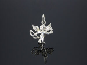 "925 Sterling Silver Locket Love Angel Pendant Model SYC 2L160. This is ideal  for males and females. Unique piece comes on contemporary style perfect for all outfits. Suitable for birthday functions, wedding ceremony, valentine gifts,engagements,rakshabandhan and perfect gift for our loved ones. Importance of 925 Sterling Silver : We are aware of the trending style and beauty of Sterling silver but the Most Important Part of Sterling Silver 925 is the health benefits. Silver ions in Silver material has a proven record of antibiotic nature. The excellent way to obtain health improvement from 925 Sterling silver is when it get in touch with the skin. Silver is antibacterial too and helps to improve blood circulation and help remove toxins present in the human body. Some studies even mention about the defensive power of Silver Jewelry against Hazardous electro magnetic radiations emitting from Mobile phones or Laptops. Electrical and Thermal conductivity of Sterling silver 925 is the highlighted quality which indicate the capacity of Sterling silver to distribute electrical power as well as heat across the body.This is why Sterling silver boost the blood circulation, typical healing property and maintain the heat balance. If illnesses arrives , temperature level increases or hormonal change occurs Sterling silver wearing get appear more darker in color. Original 925 Sterling silver are more than 99% non allergic and skin friendly in nature. But Cheap Silver Plated Jewelry available in popular online sites ( in some websites they even wrongly mentioned it as sterling silver ) are dangerous for Skin especially those who have sensitive skin. We recommend to use Genuine quality Sterling Silver to avail health benefits and to avoid cheap fancy Silver Products.  Pure Silver and 92.5 Sterling Silver : 100% Pure Silver also known as Fine Silver is heavily soft in nature , very malleable and most likely it will get damaged within a short time. It's not Practically Possible to make Jewelry Products in 100 Percentage Pure silver due because Jewels will bend and have to be straightened. To tackle this and same time to remain the highest Silver Material Quality, 925 Sterling Silver is introduced. Sterling Silver contains 92.5 % Pure silver and alloys on other 7.5 % usually Copper. This helps sterling silver to increase hardness, durability, strength and reduce tarnishing. Silver designers can made Outstanding Trending Silverware collection with sterling silver 925 due to the mentioned properties. 925 Sterling silver Jewellery gives more beauty and elegant look. Sterling silver even suits for black skin tones. Sterling silver enhances beauty and give a pretty modern look. ""Sterling silver 925"" word is associated with superior quality since ancient times. Silverycraft Luxury Sterling silver Jewel's are affordable too.  Caring the Valuable Silver Jewels : Silverycraft Products especially Sterling Silver 925 need less care compared to other brands. Still it's important to do proper care mainly Keep your precious Silver away from high humidity, Chemicals, Oils, Perfumes, Hair products, water containing Chlorine etc which may cause tarnish in silver. Precious Stones used in Silver Jewels need Special care. Flannel Treated Bags & cloth helps to retard tarnishing in Silver while Long Storage or you can use a Cloth pouch or Separate box for Storage at Home. You can Clean Sterling silver using very soft Banyan cloth. After the tarnish disappears ,rinse your Silver jewellery with water and dry it using a soft cloth. Its is easy to care and usually no maintenance issue occurs. Usual Tarnishing or Silver Color Variation (oxidation) due to interaction with atmosphere is common and it also indicate the symbol of Original silver content in the jewellery. Regular Caring will definitely reduce tarnishing to a great extend..SILVERYCRAFT original Silver craft jewellery in India and genuine sterling silver 92.5 jewelry collection silver products silver gifts silver wedding collections female male kids silver sterling 925 silver jewels rare collection silvers Fashion silver fashonable silver crafts Indian made silver e commerce website online silver purchase buy silver jewelleries online SILVERYCRAFT Silver jewellery's Silvery crafts crafted silvers India's fine quality silver at www.silverycraft.com"