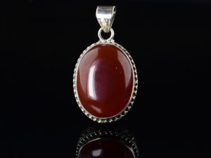 925 Sterling Silver Locket Semi Precious Red Carnelian Stone of oval cabochon shape Pendant Model SYC 1LS015. This is ideal for womens and girls. Unique piece comes on contemporary style perfect for all outfits. Suitable for birthday functions, wedding ceremony, valentine gifts,engagements and perfect gift for our loved ones. Importance of 925 Sterling Silver : We are aware of the trending style and beauty of Sterling silver but the Most Important Part of Sterling Silver 925 is the health benefits. Silver ions in Silver material has a proven record of antibiotic nature. The excellent way to obtain health improvement from 925 Sterling silver is whenit get in touch with the skin. Silver is antibacterial too and helps to improve blood circulation and help remove toxins present in the human body. Some studies even mention about the defensivepower of Silver JewelryagainstHazardous electromagnetic radiations emittingfrom Mobile phones or Laptops. Electrical and Thermal conductivity of Sterling silver 925 is the highlighted quality which indicate the capacity of Sterling silver to distribute electrical power as well as heat across the body.This is why Sterling silver boost the blood circulation, typical healing property and maintain the heat balance. If illnesses arrives , temperature level increases or hormonal change occurs Sterling silver wearing get appear more darker in color. Original 925 Sterling silver are more than 99% non allergic and skin friendly in nature. But Cheap Silver Plated Jewelryavailable in popular online sites ( in some websites they even wrongly mentioned it as sterling silver ) are da
