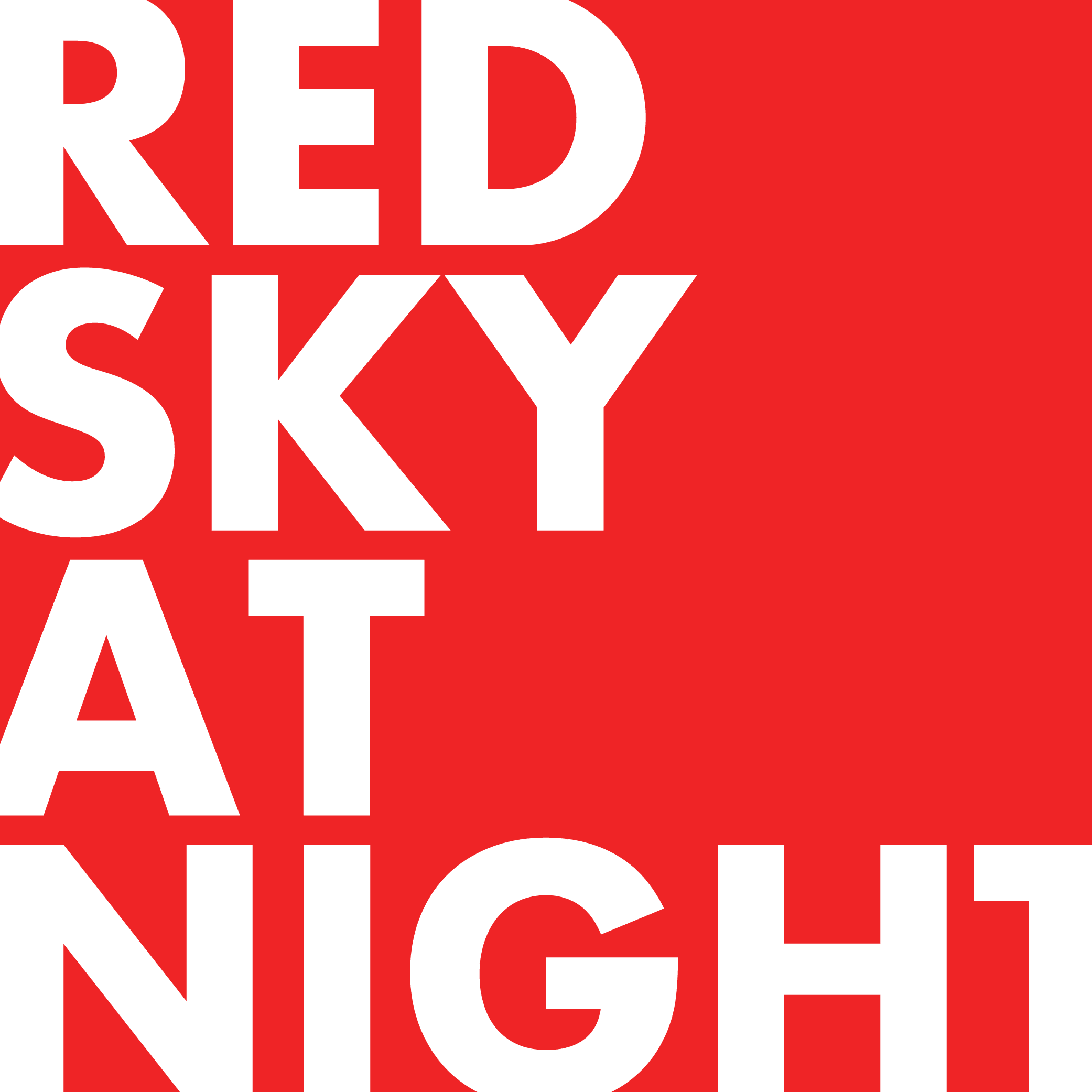The Red Sky at Night logo in red