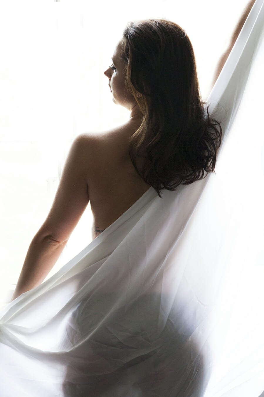 White sheet Silhouette