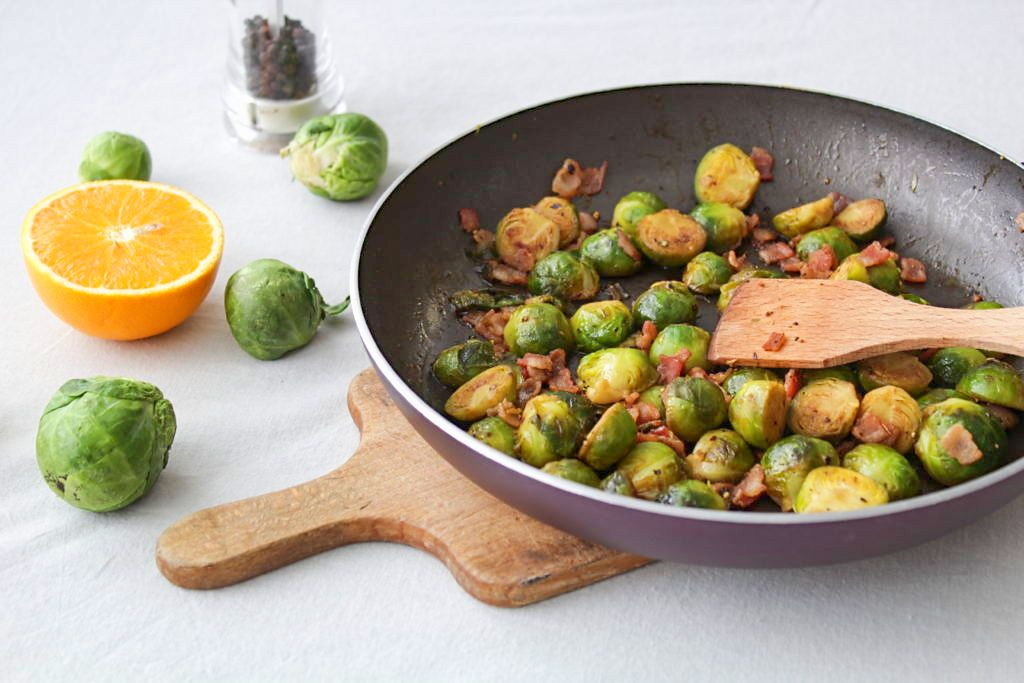 Brussel Sprouts With Bacon And Orange (Paleo, Whole30)