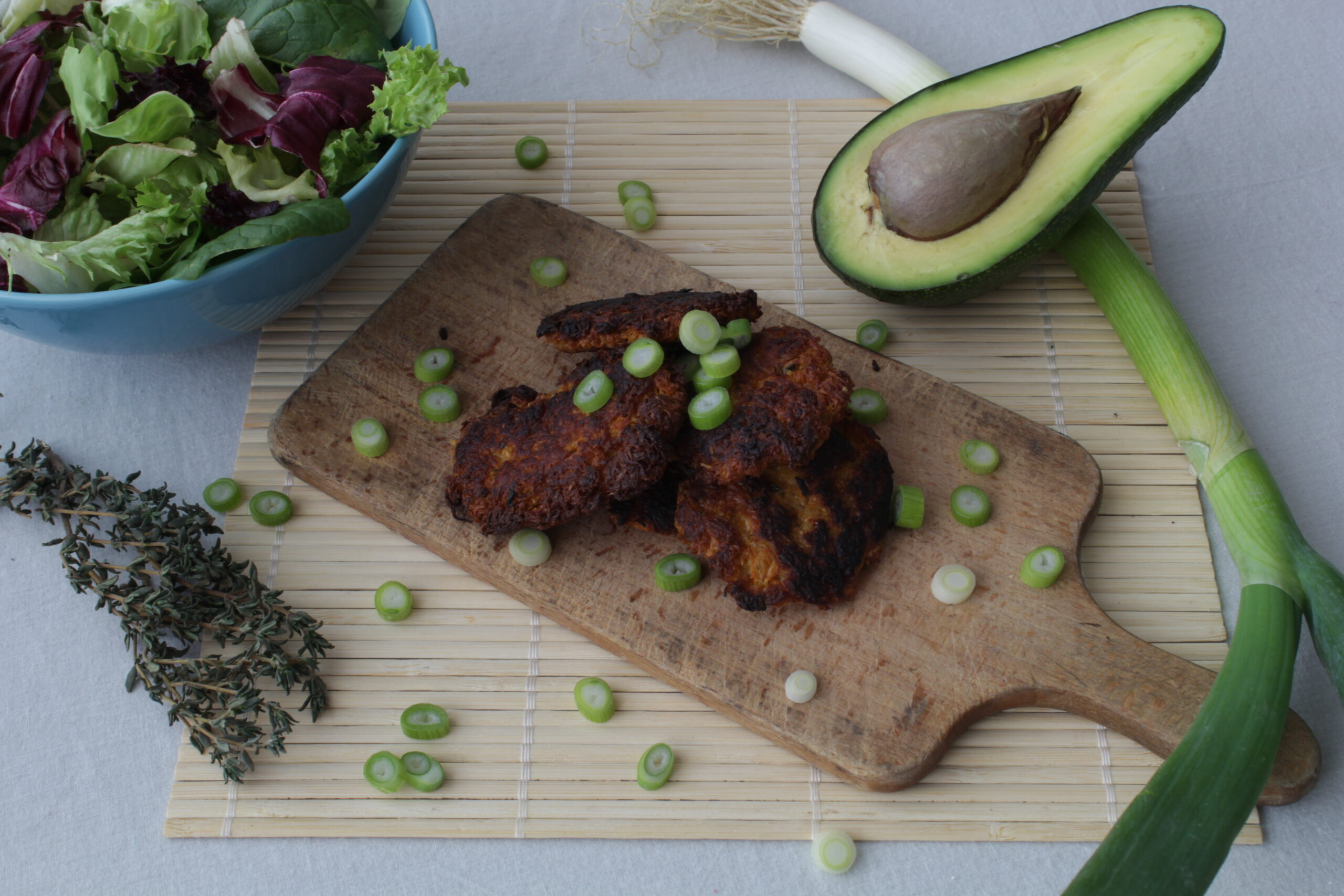 Celeriac and Carrot Fritters