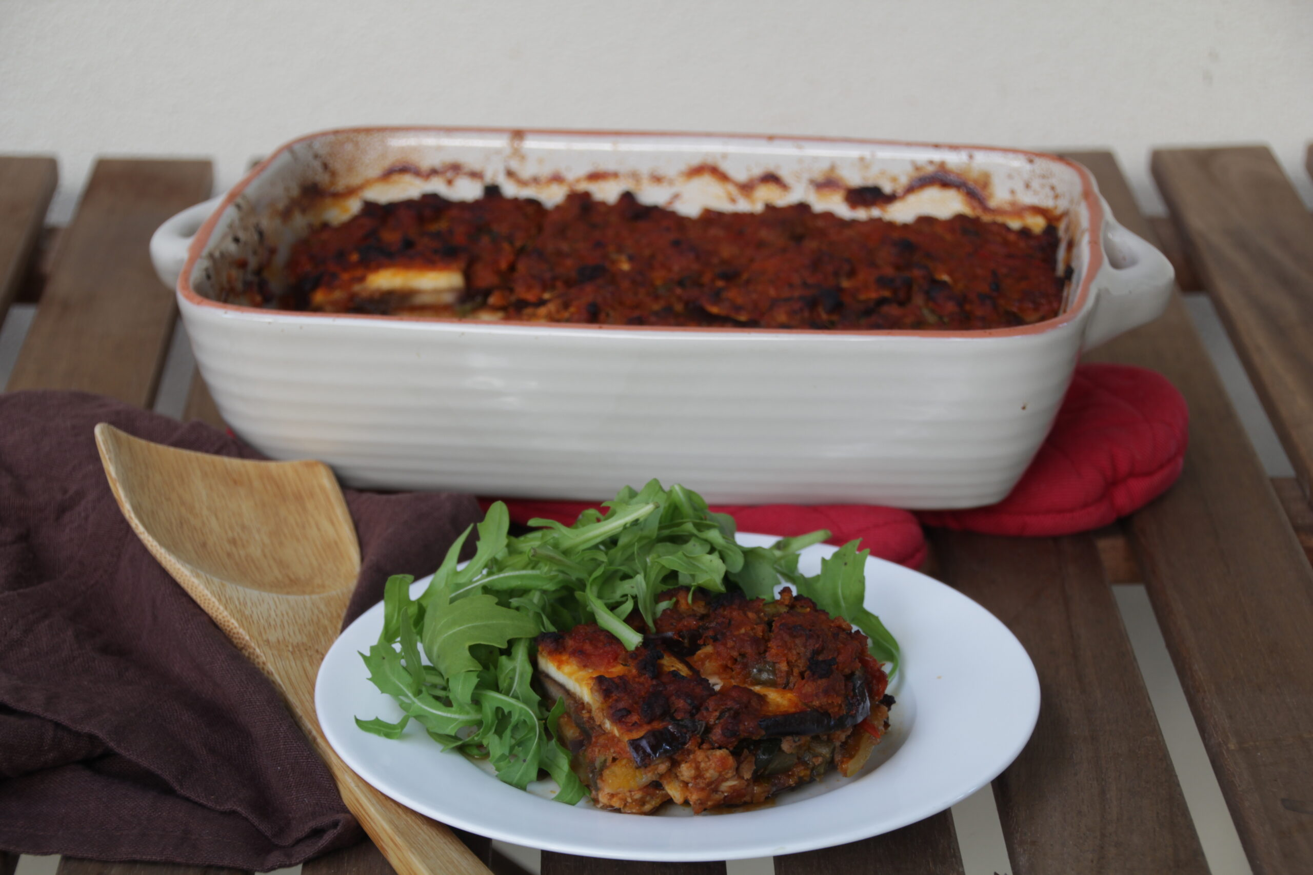 Whole30 Day 12 - Eggplant Lasagna Bolognese