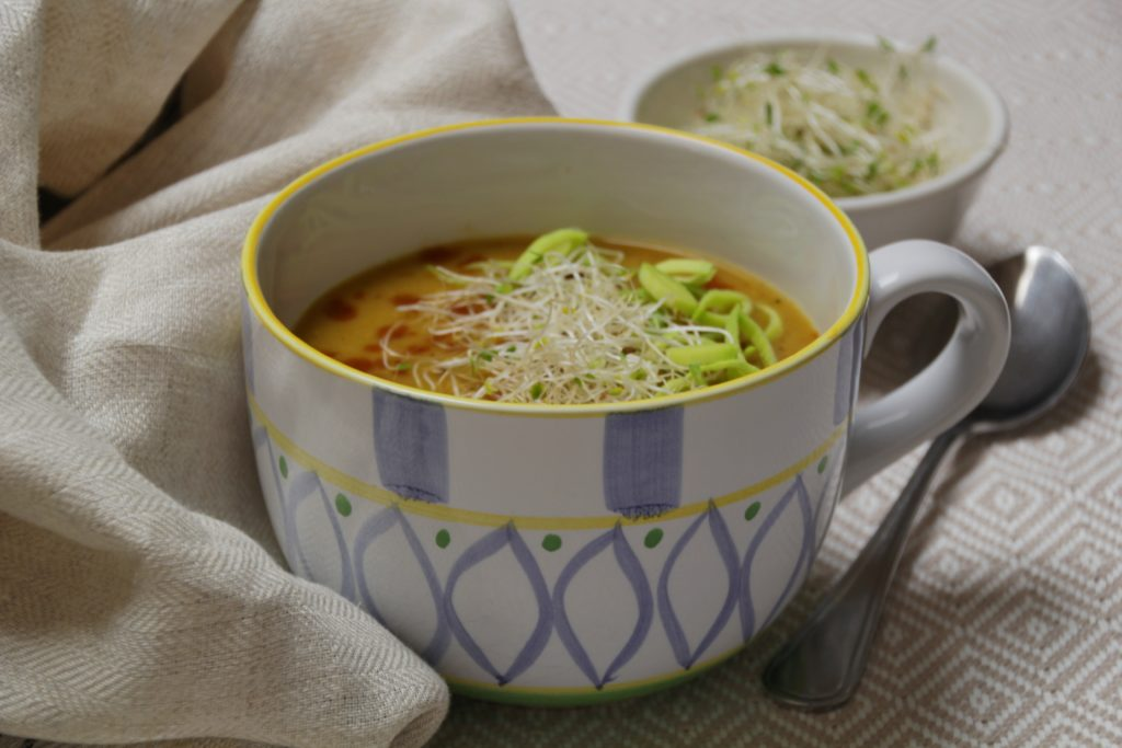 Super Easy Leek And Sweet Potato Soup
