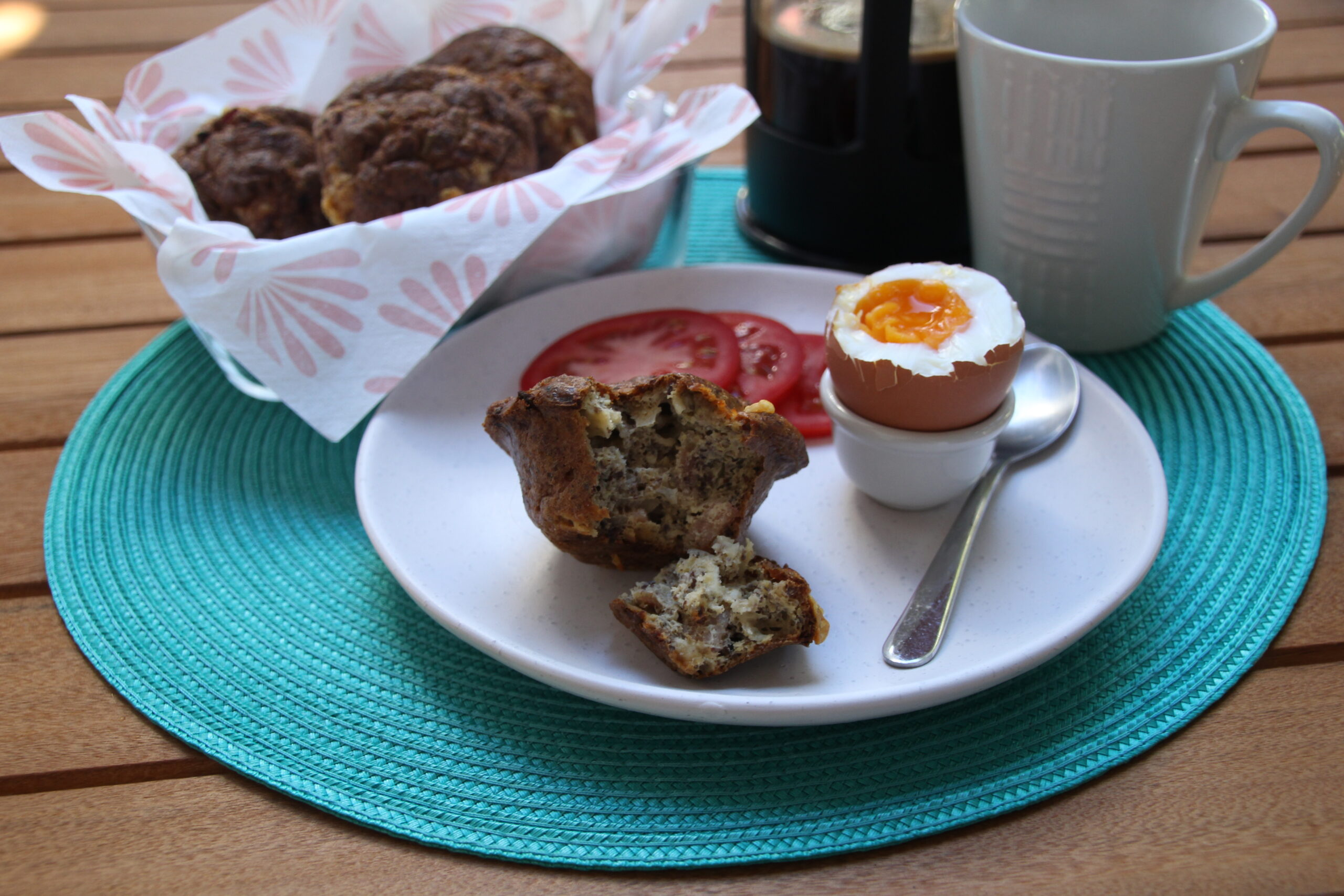 Low Carb Bacon And Cheese Savory Muffins
