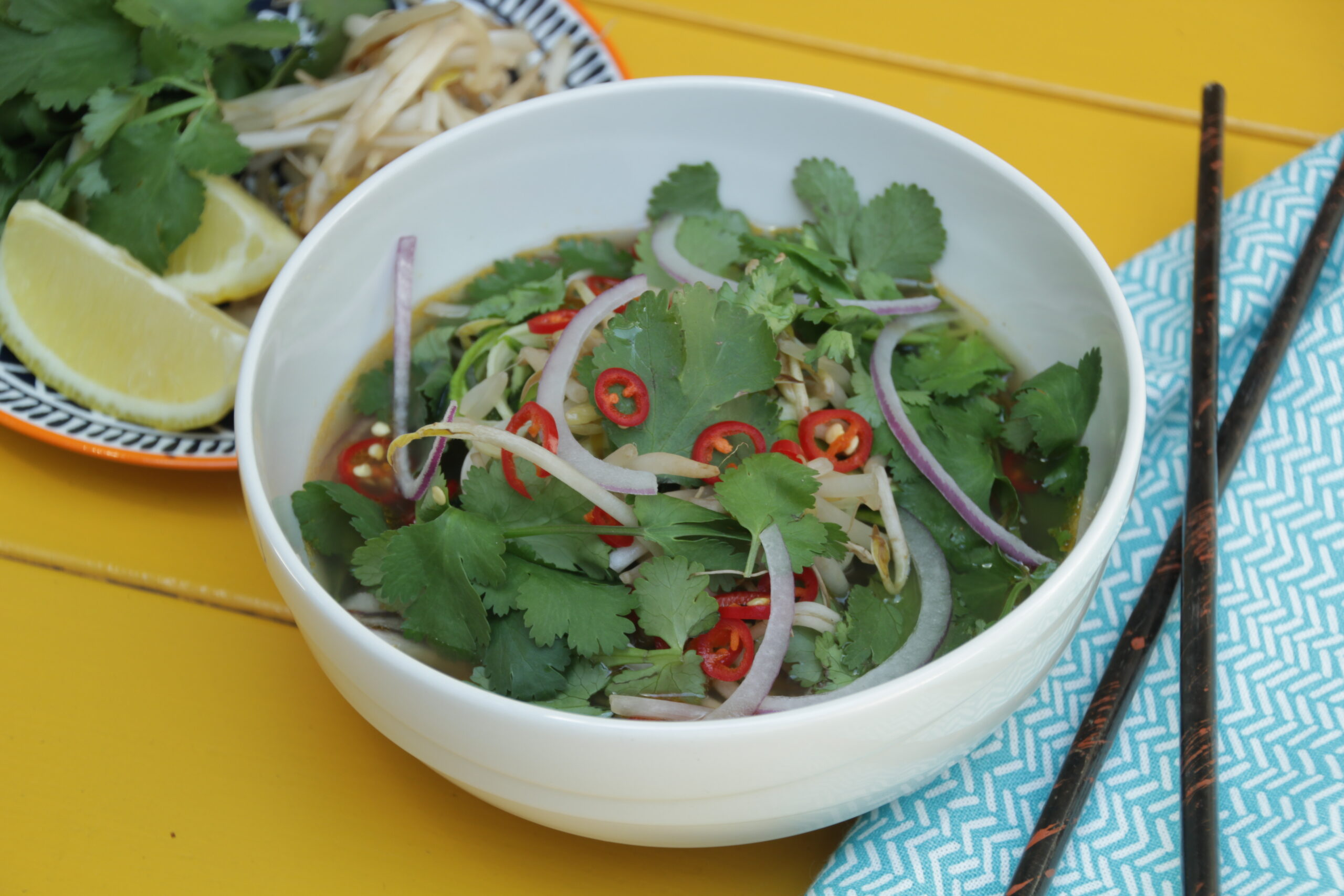 Pho Ga With Zucchini Noodles
