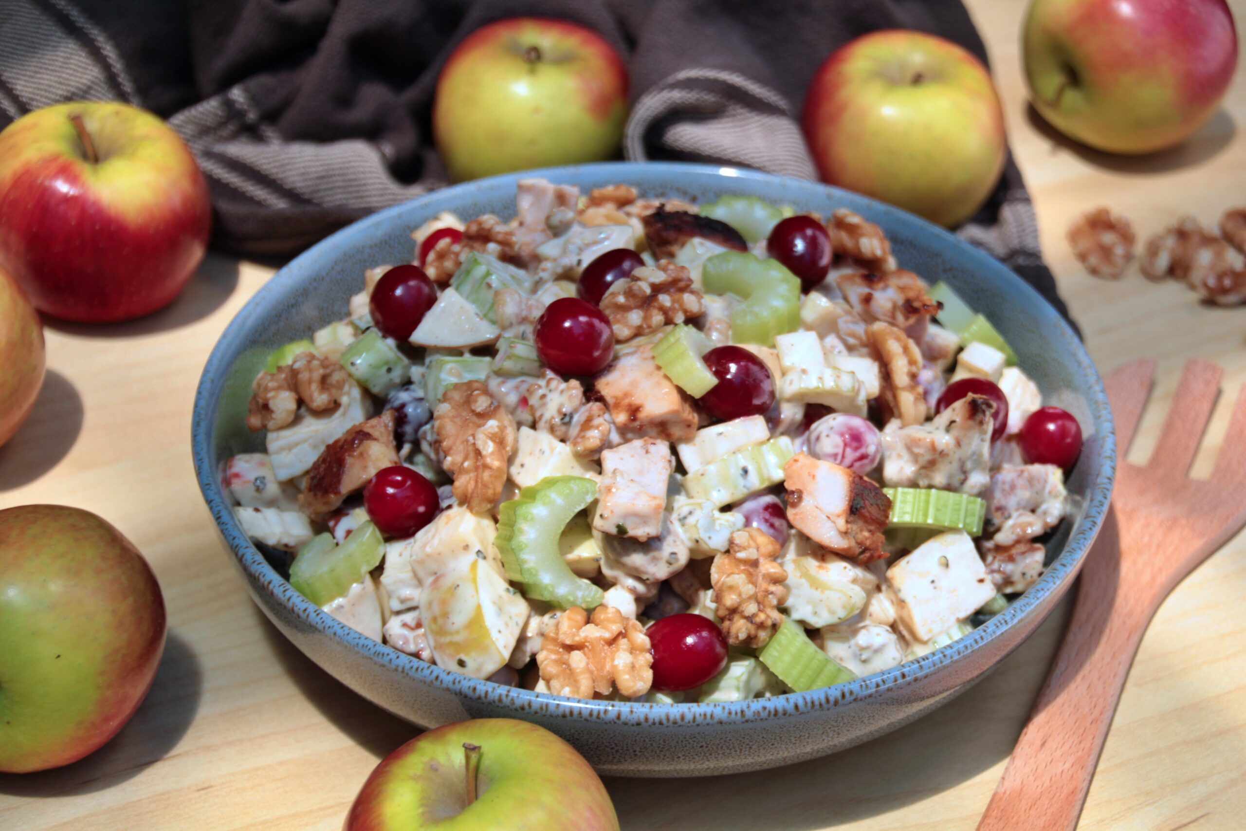 Chicken Salad With Apples And Cranberries (Paleo, Whole30)