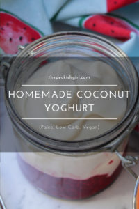 Homemade Coconut Yoghurt (Paleo, Low Carb, Vegan)