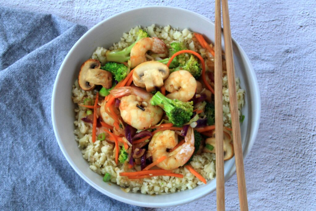 Prawn Stir-Fry (Paleo, Whole30, Low Carb)