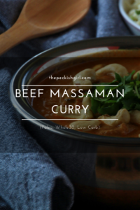 Beef Massaman Curry (Paleo, Whole30, Low Carb)