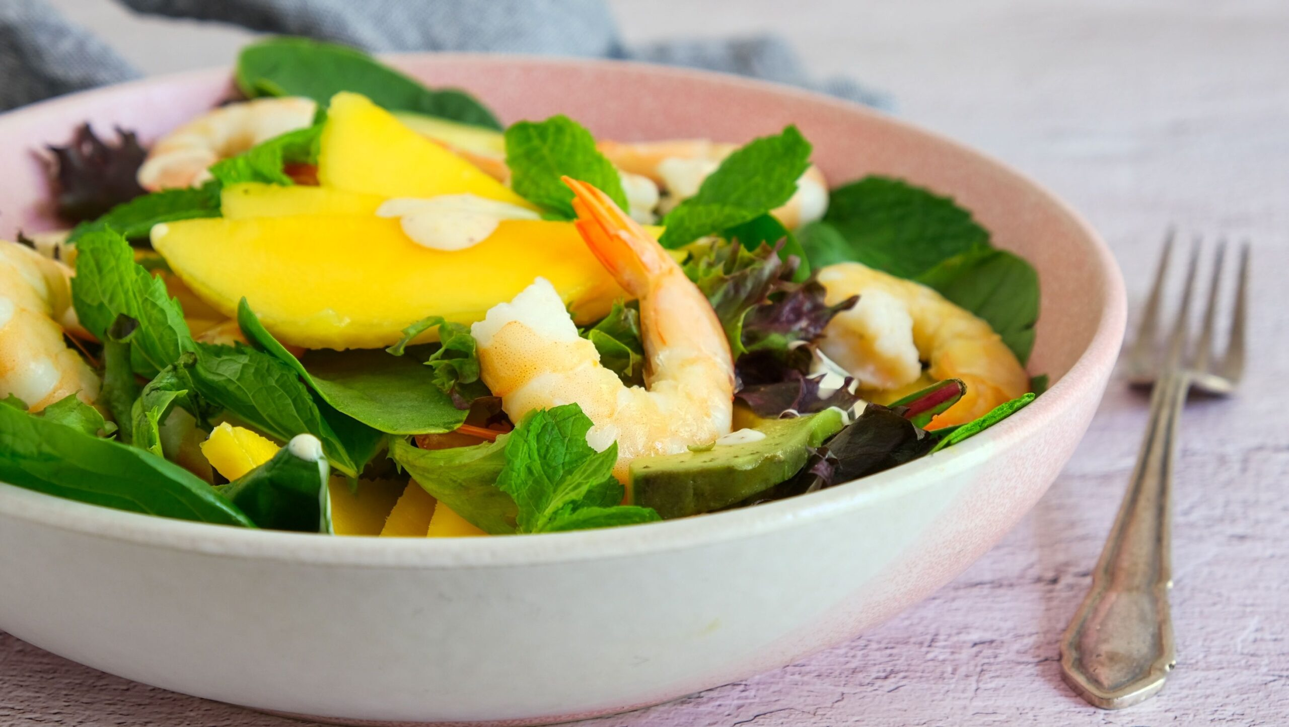 Prawn, Mango & Avocado Salad (Paleo, Whole30)