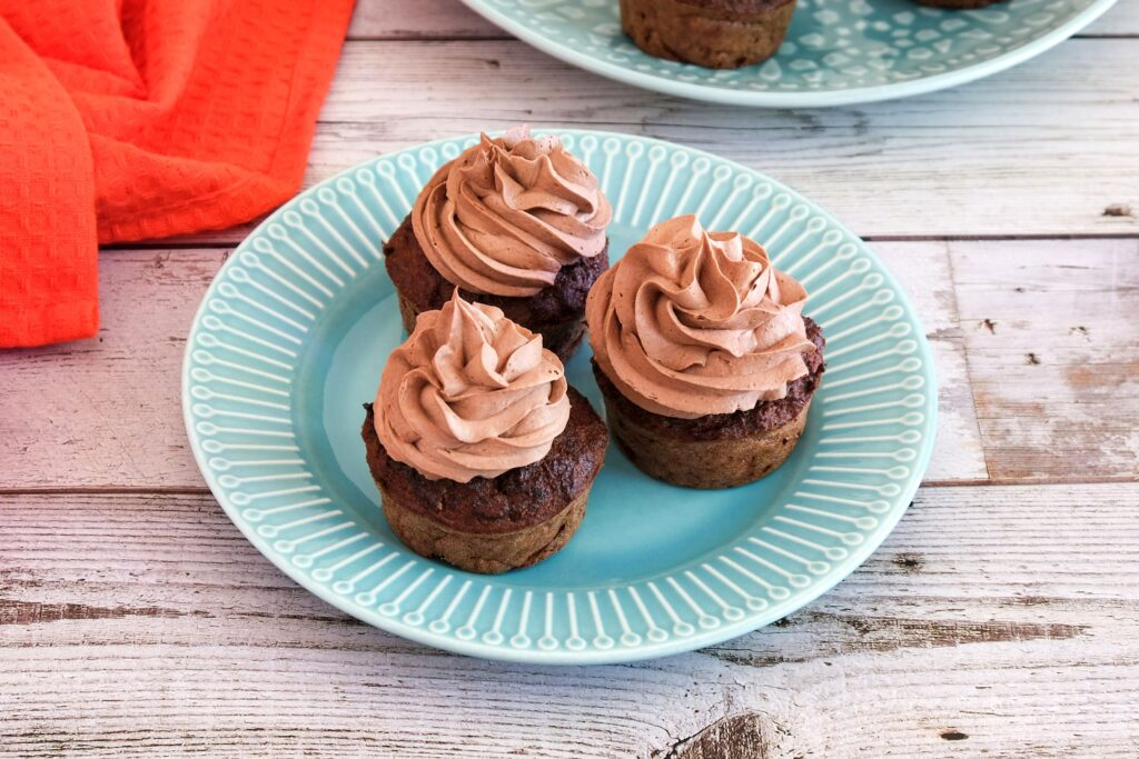 Chocolate Beetroot Cupcakes (Paleo, Low Carb)