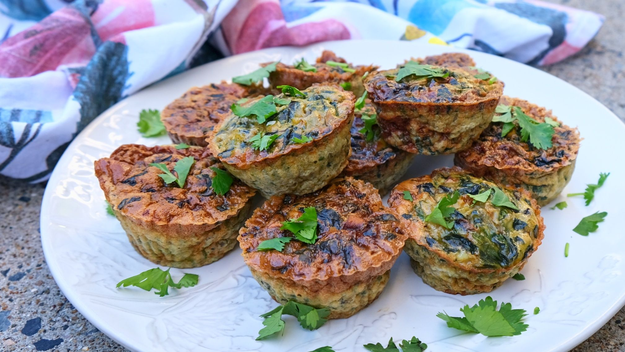 Spinach And Mushroom Egg Muffins (Paleo, Whole30, Low Carb)