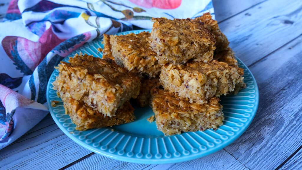 Anzac Oat Slice (Sugar Free, Vegan Option)