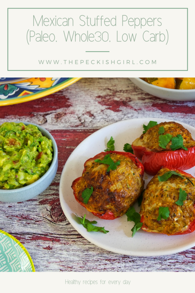 Mexican Stuffed Peppers (Paleo, Whole30, Low Carb)