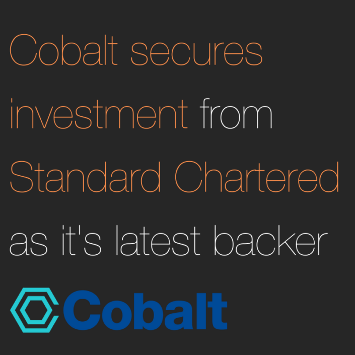 Cobalt Standard Chartered - Fintech PR in London