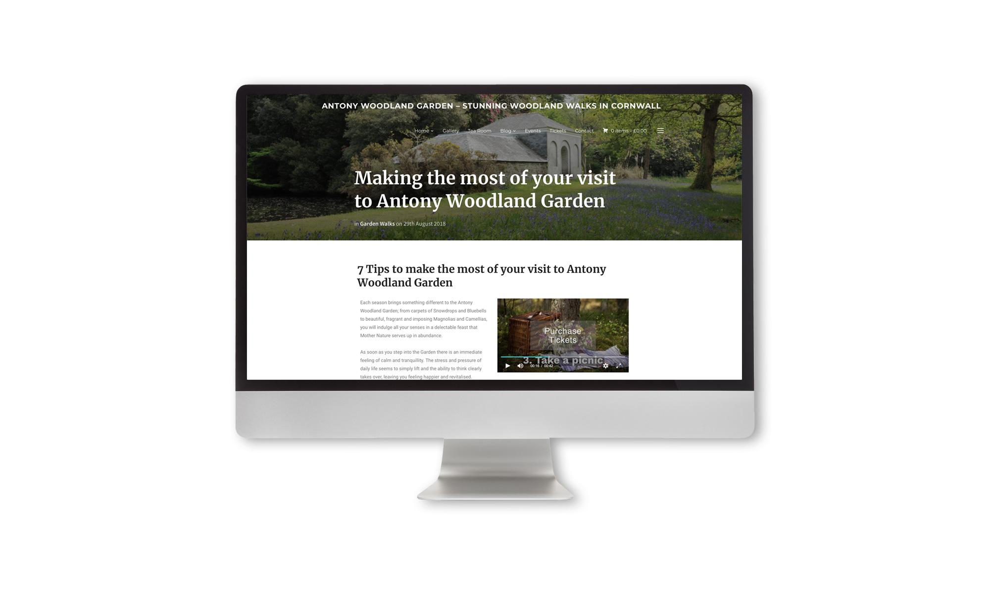 Antony Woodland garden Blog content