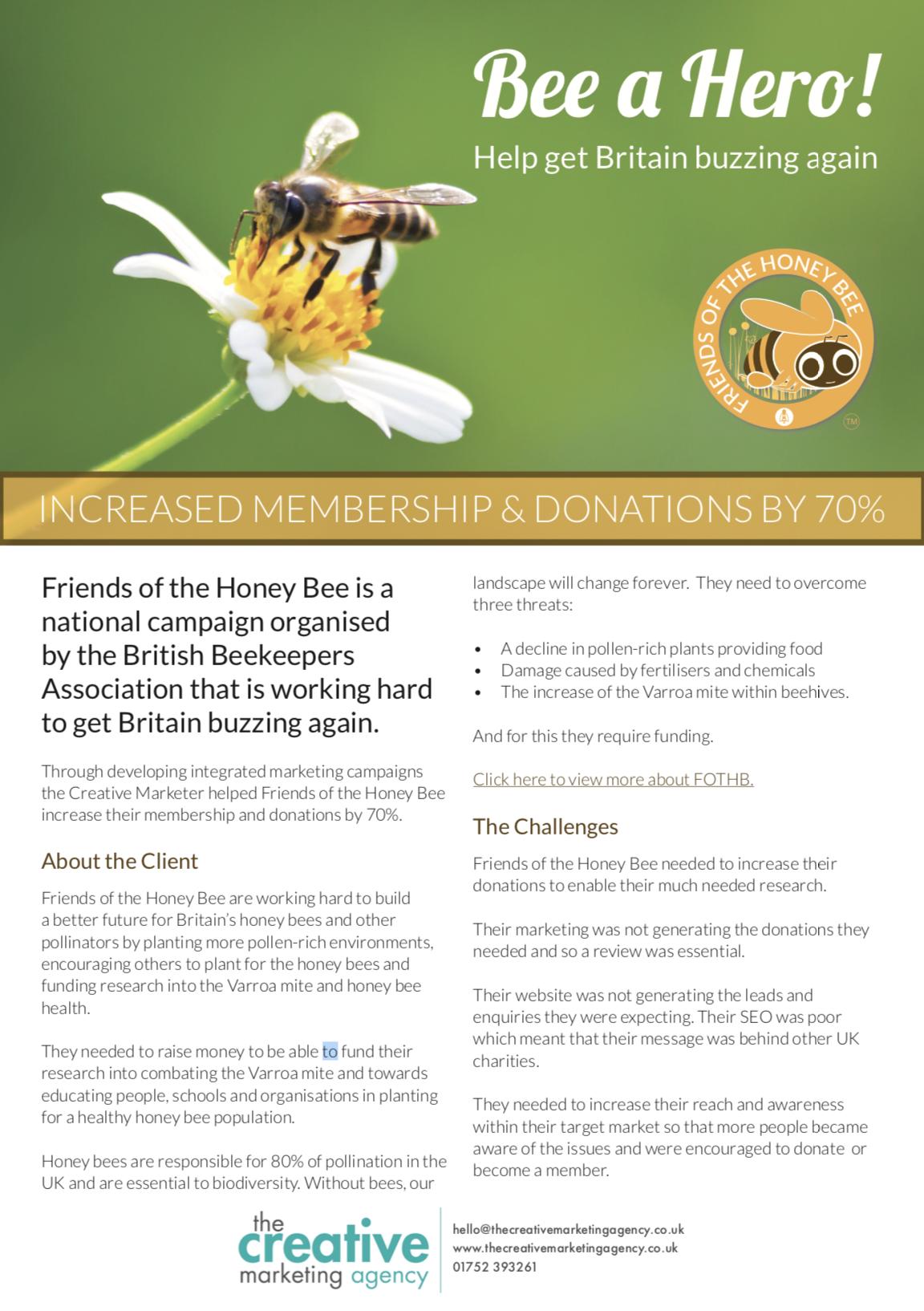 Friends of the Honey Bee marketing