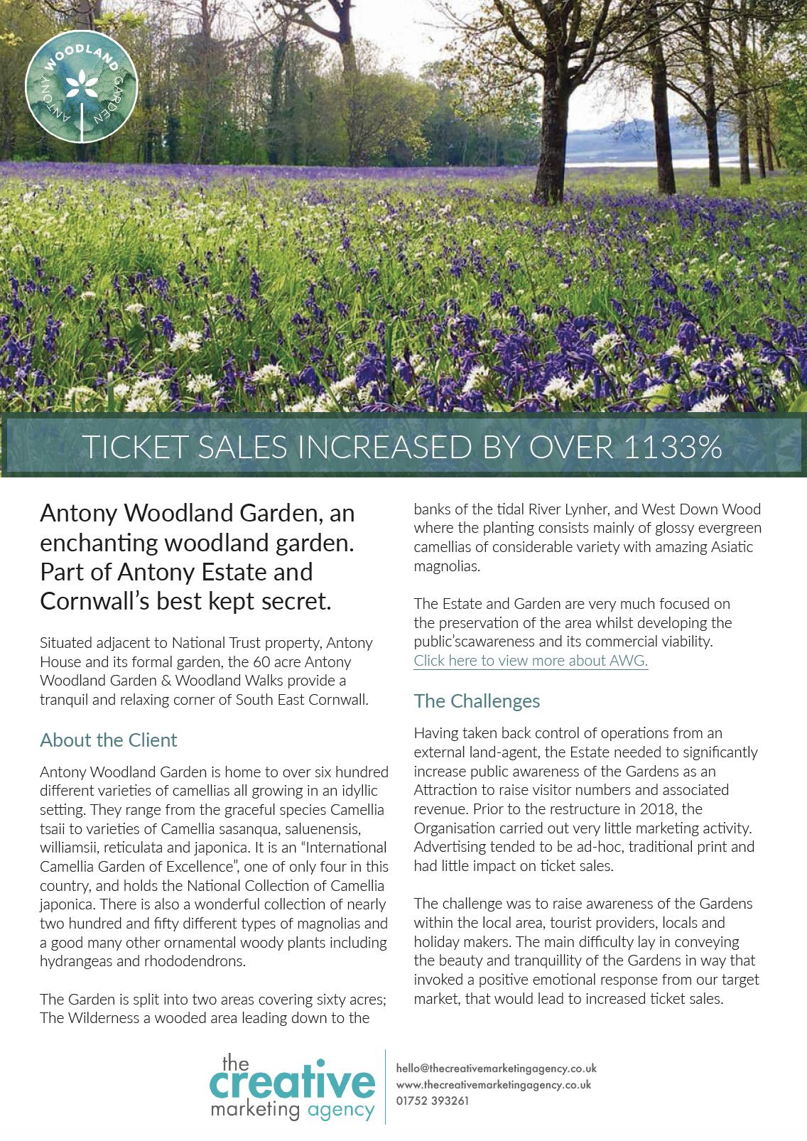 Antony Woodland Garden case study