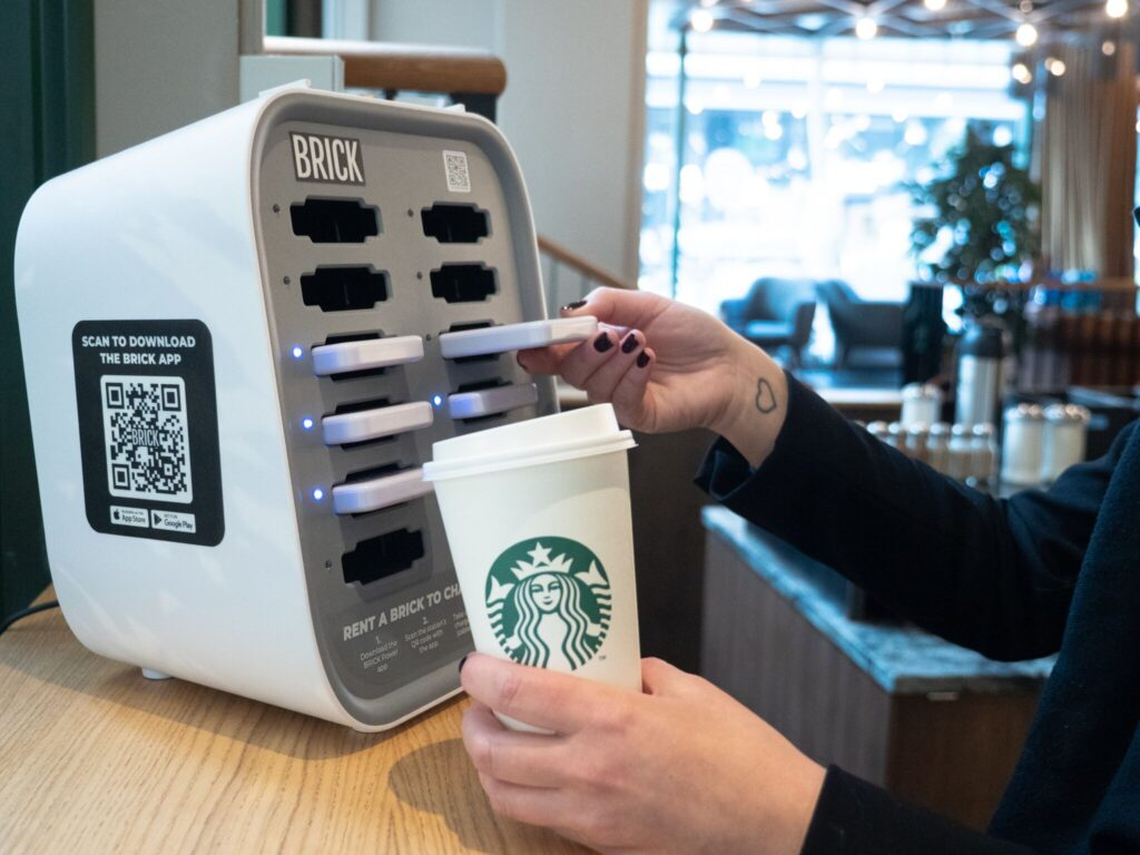 Starbucks BRICK Power bank rental station