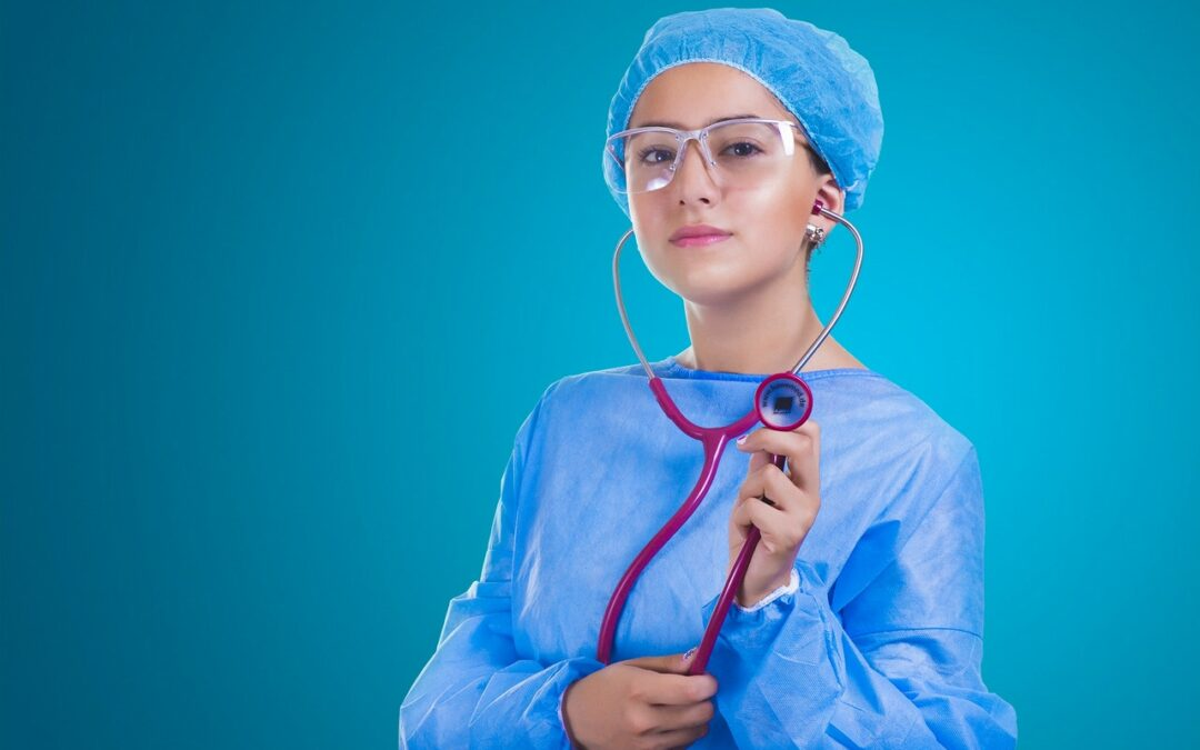 Nurse with statheoscope