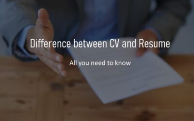 Difference between a CV and Resume – Updated 2021