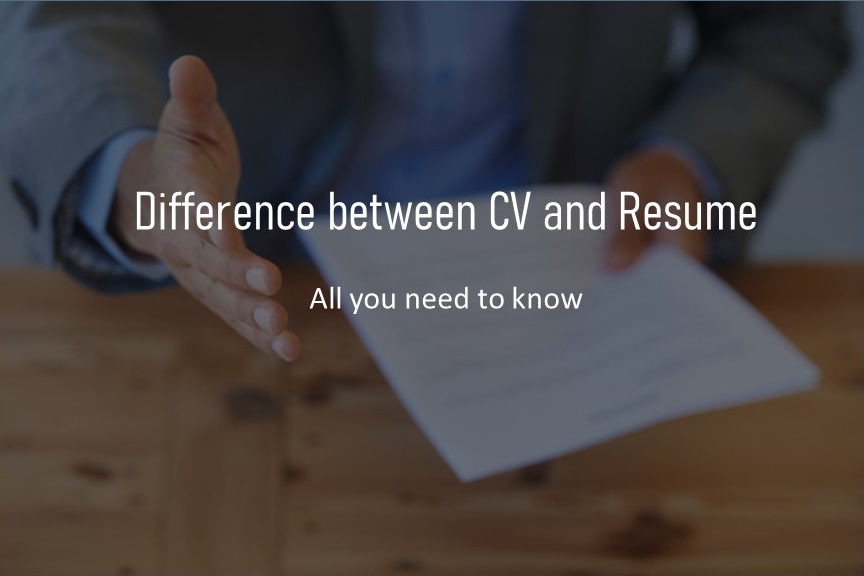 Difference between CV and resume - Updated 2021