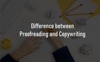 Differences between Proofreading and Copywriting?
