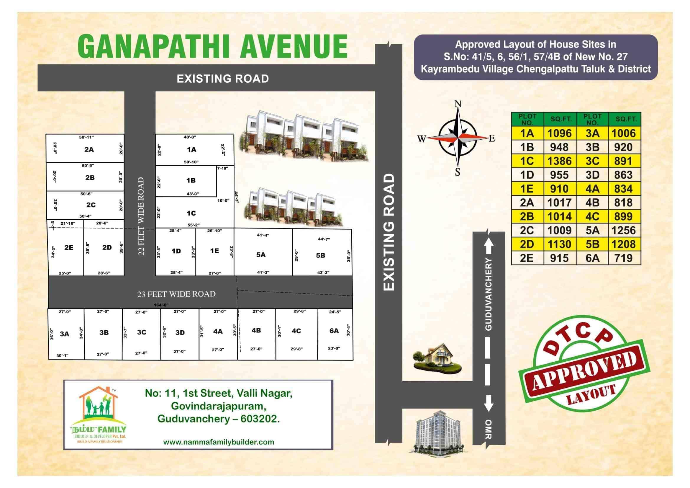 Ganapathi Avenue in Kayarambedu – Guduvanchery plots for sale