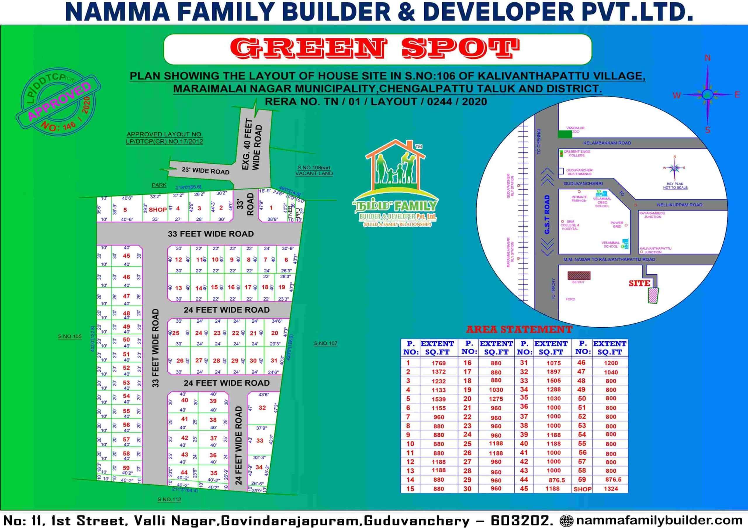 Green Spot Maraimalai Nagar Plots for Sale