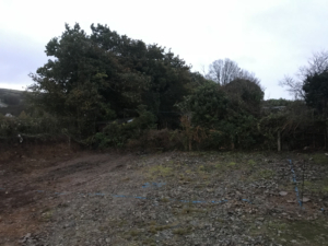 Site Clearance Callington for new garage