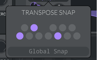 Transpose Snap Buttons