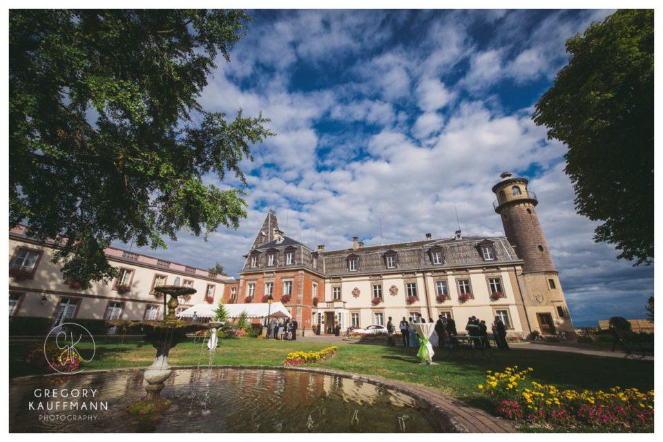 Image du château d'Isembourg où se marier en Alsace