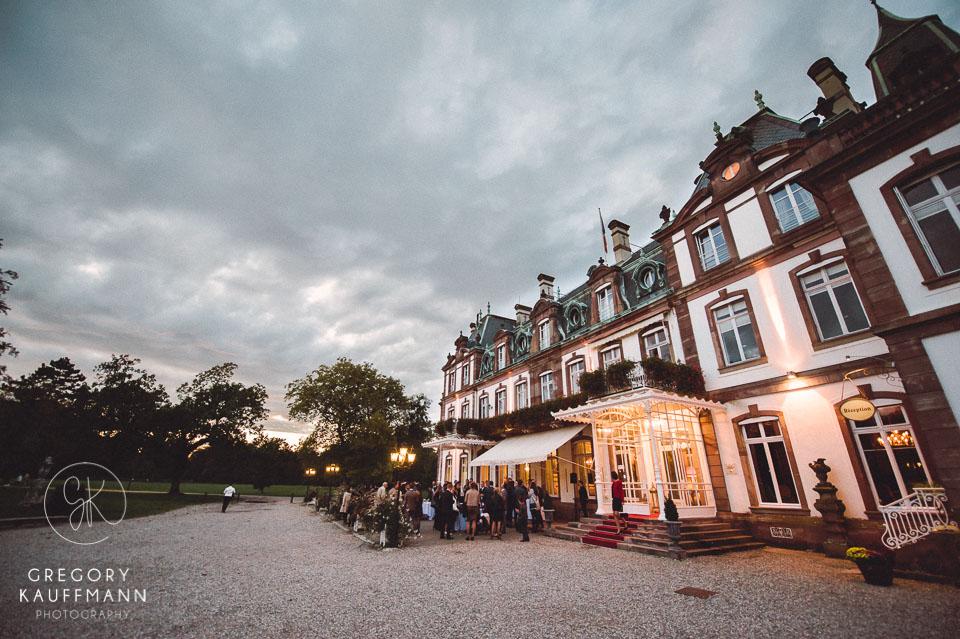 Le château de Pourtales est un des lieux de mariage magnifiques en Alsace, près de Strasbourg