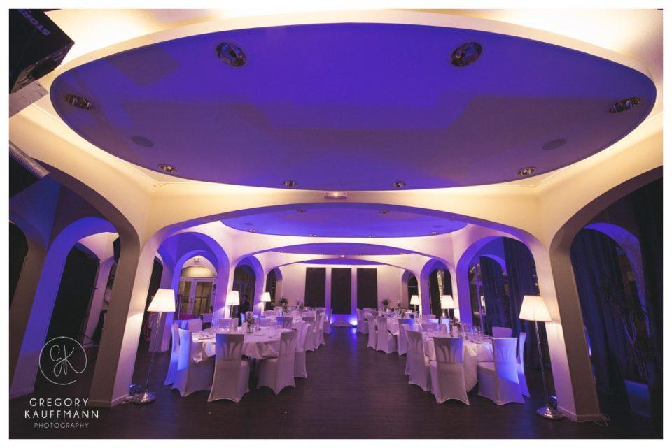 Image de la salle de mariage de l'Hôtel Hortensias en Alsace