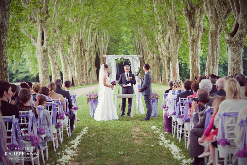 Image d'un mariage au parc de Schoppenwihr