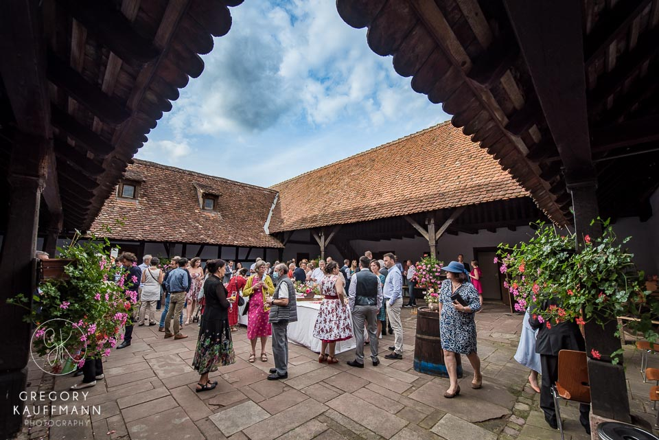 mariage corps de ferme Alsace wickersheim