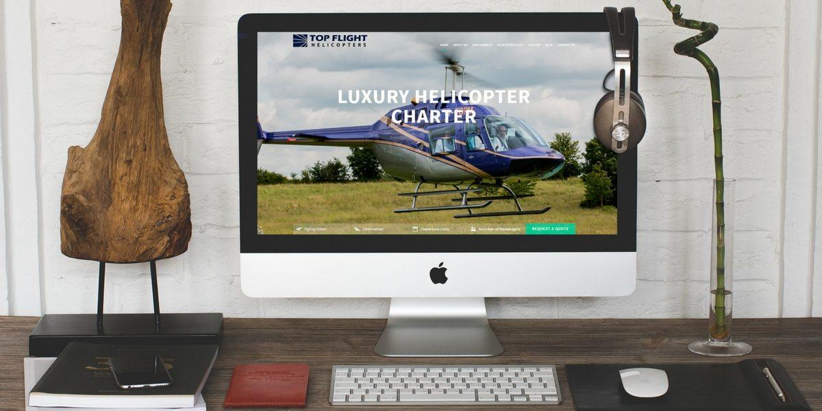 Portfolio Top Flight Helicopters Web Design and Digital Marketing