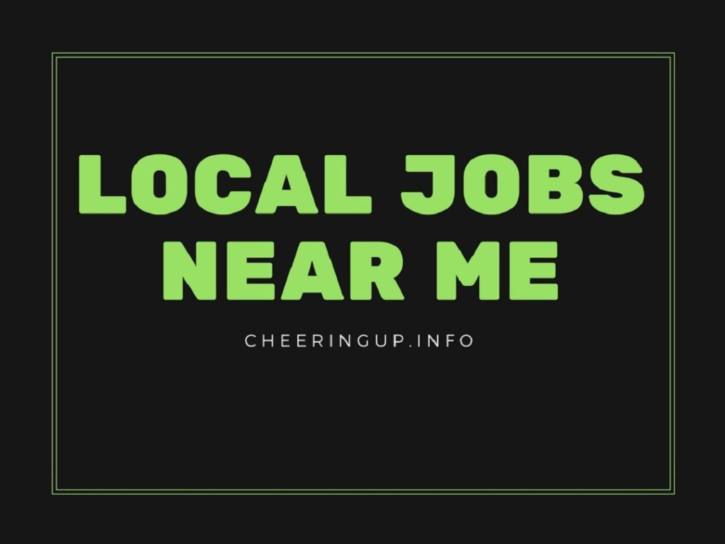 Find local jobs near me in UK
