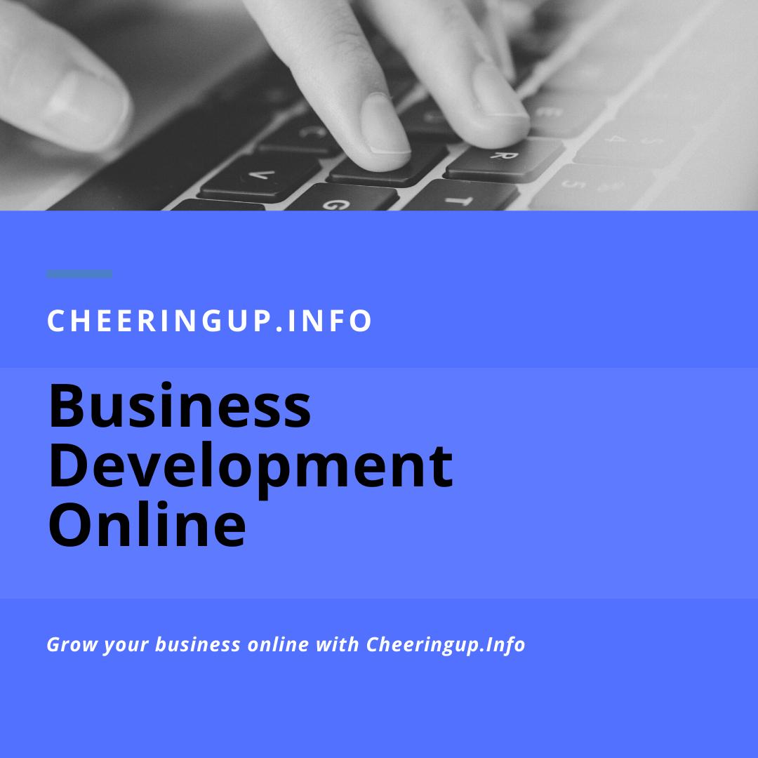 Online Business Development with CheeringupInfo