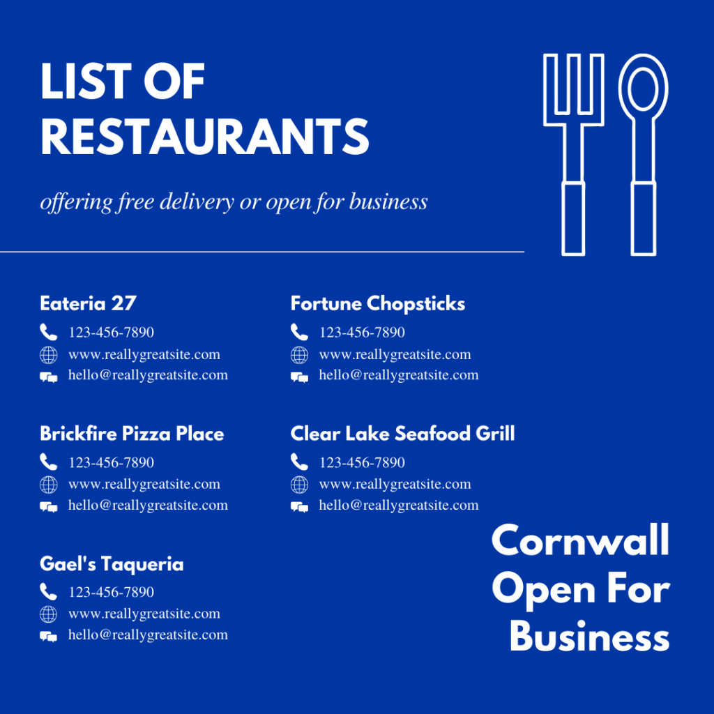 Cornwall Restaurant Marketing