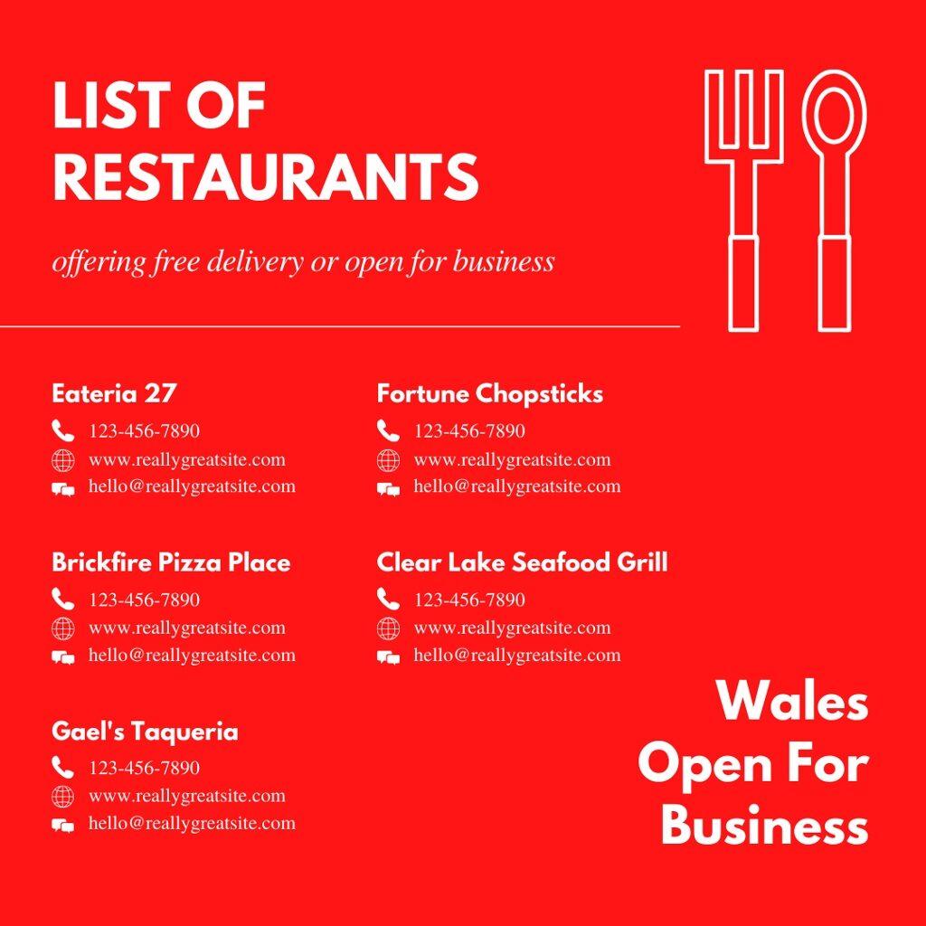 Wales Restaurants