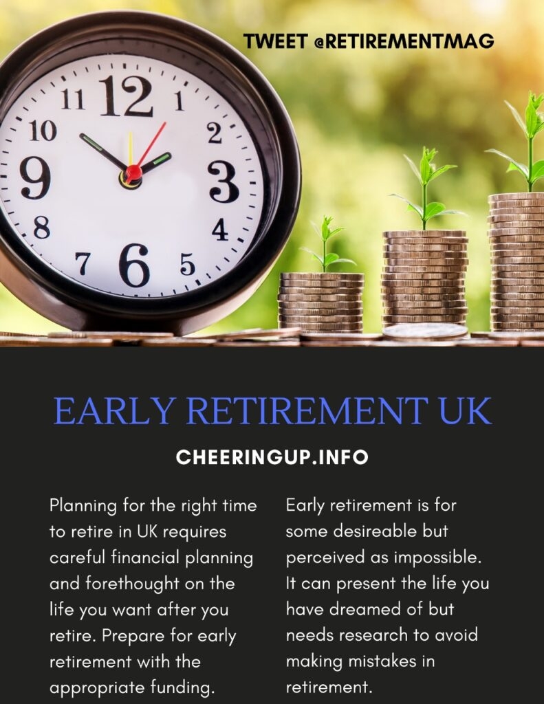 Retirement Early Tips Advice and Guidance UK
